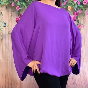 Purple reversible silk blouse size Large